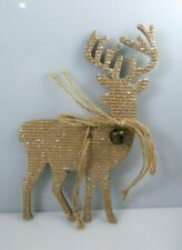 Reindeer With Bells Ornaments Hobby Lobby Set 4 Glitter Tag Corrugated Cardboard