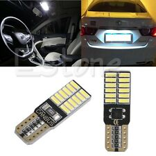 2x Car Auto T10 24 LED W5W 4014 Canbus Error Free Wedge Side Running Light Lamp
