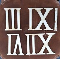 Römische Zahlen 4 Zahlen 3-6-9-12 aus Holz 80 mm hoch Uhr DIY Basteln