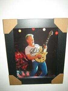 Eddie Van Halen ; Excellent Hand Signed Photograph (8x10) Framed With CoA