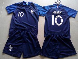 ensemble football + short enfants bleu no 10