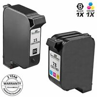 2pk Reman for HP 15 78 C6615DN C6578DN Black & Tri Color Ink Cartridge Set