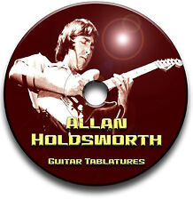 ALLAN HOLDSWORTH JAZZ ROCK FUSION GUITAR TAB TABLATURE SONG BOOK SOFTWARE CD