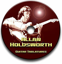 ALLAN HOLDSWORTH JAZZ ROCK FUSION GUITAR TABS TABLATURE SONG BOOK SOFTWARE CD