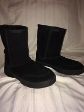 Route 66 Womens Ivory Leather Boot Black Womens US Size 7.5 M