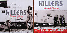 THE KILLERS Sam's Town PROMO Two Sided Poster DAVID KEUNING Brandon Flowers Rare