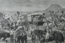 1881 Engravings - Peace in South Africa - President Announces End of Boer War
