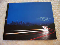 ACURA OFFICIAL RSX AND RSX TYPE-S PRESTIGE SALES BROCHURE 2002 USA EDITION