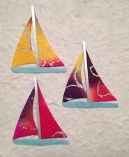 5 SAIL BOATS  for Cards, Scrapbooking, Paper Piecing