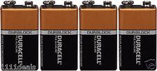4 Brand New 9V 9 Volt 9 V MN1604 Duracell CopperTop Battery Expires 2020