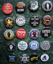 20 NORTHERN SOUL BUTTON BADGES 1  INCH/25mm SCOOTER   STAX  DO I LOVE YOU WIGAN