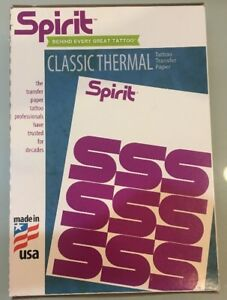 50 Sheets Spirit Transfer Paper Tattoo Stencil THERMAL AUTHENTIC Made In USA