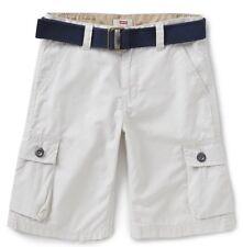Levi's Khaki Beige Moonbeam Big Boy's Belted 6-Pocket Cargo Shorts Multiple Sz