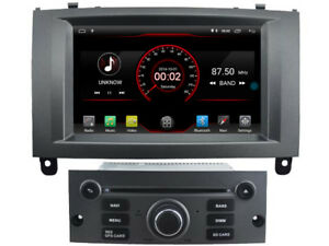 """Gps Radio Player for Peugeot 407 2004-2010 7"""" Android 10 DSP Navi Car 2+16gb"""