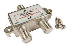 2 way Cable splitter plugs for Sky Virgin Modem Split Satellite TV Aerial Signal