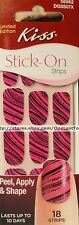 KISS 18 Stick-On HORSE PARTY Nail Art Strips/Appliques PINK+PURPLE+BLACK #58962