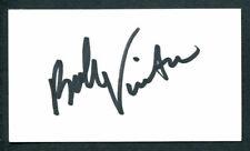 "Bobby Vinton signed autograph auto 2x3.5 cut Singer: ""The Polish Prince"" E186"