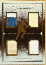 2014-15 PANINI ANTHOLOGY HOCKEY - TETRAD MATERIALS - JOE SAKIC STICKS & JERSEYS