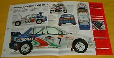 1995 1996 Mitsubishi Lancer Evolution Rally Car III 3 Turbo IMP info/Specs/photo
