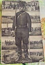 Tableau Carte Postale Photos Grande Guerre 1914 - 1918 Scènes d'Artillerie Mouve