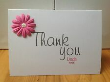 Handmade personalised Thank you card- personalised with name