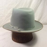 Gray Royal Stetson Fedora Vintage Hat with Gray Band -- Size 7 - 7 1/8