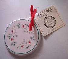 """Pfaltzgraff Christmas Cookie Mold """"Cookie for Santa"""" 1999 Winterberry pattern"""