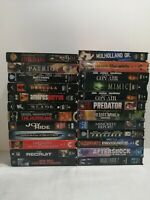 Lot Of 24 Action Movie VHS Tapes. Mimic, Predator, Blade, highlander 2 and more.