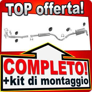 Scarico Completo per VW LUPO 1.0 1999-2004 Marmitta +Tubo