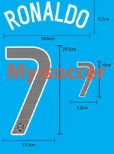 RONALDO #7 Portugal Away 2013-14 NAME NUMBER PU PRINT FREE SHIPPING