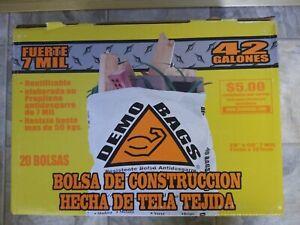 [20] Demo Bags Contractor Trash Bag 42 gal 7 mil case