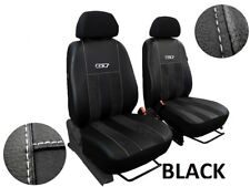 """TOYOTA HILUX 2016 PRESENT LEATHER ALCANTARA """"GT"""" FRONT SEAT COVERS CUSTOM MADE"""