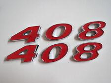 DODGE PLYMOUTH 408 STROKER ENGINE ID FENDER HOOD SCOOP QUARTER EMBLEMS - RED