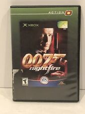 James Bond 007 Nightfire Microsoft Xbox RARE CASE DESIGN Complete w/ Manual WORK