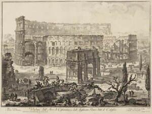 Giovanni Battista Piranesi View of the Colosseum Poster Giclee Canvas Print