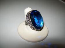 GORGEOUS 42CT SAPPHIRE COCKTAIL RING SIZE 7.75