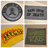 SKEGSS / Dune Rats / Bass Drum Of Death Embroidered IronOn Punk Skate Rock Patch