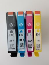 Genuine Original & Unused HP 364 Ink Cartridges x 4 - Black Cyan Magenta Yellow