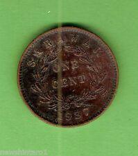 #D272.  1937  SARAWAK  ONE  CENT COIN