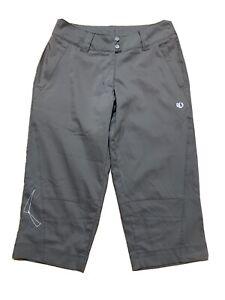 Pearl Izumi Women's Launch Cycling Capri Pants Size Small Gray/Green