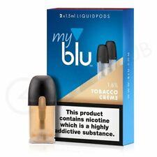 2 x 1.5ml  MY BLU TOBACCO CREME  1.6% / 18mg LIQUIDPODS - MYBLU