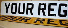 Pair 3d gel number plates resin domed gel raised plates road legal black gel