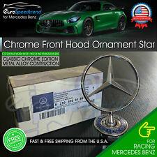 Mercedes Benz Chrome Front Hood Ornament Star OEM Mounted Emblem C E S AMG