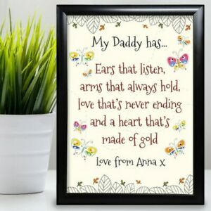 Gift For Dad Birthday Card Gift Father From Daughter Son Butterfly Fathers Day