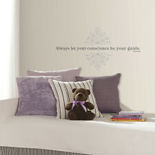 Always Let Your Conscience Be Your Guide Wall Decals Pinocchio Quote Kid Decor