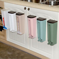 Bag Holder Dispenser Grocery Plastic Storage Box Wall Mounted Kitchen Organizer