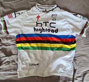 HTC HIGHROAD WORLD CHAMPIONS Replica Cycling jersey with bib shorts.