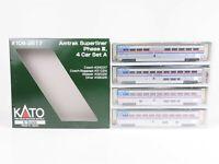 N Scale Kato 106-3517 Amtrak Superliner Phase III 4-Car Passenger Set A