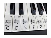 piano / keyboard stickers for up to 88 keys (61 SET CLEAR)