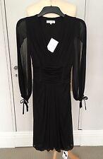 CELINE Vestito Nero Taglia 36 UK 6/8 Nuovi £ 945